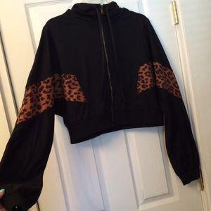 FASHION NOVA hooded jacket.